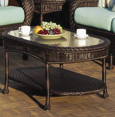 Key West Outdoor Wicker Coffee Table by South Sea Rattan - Home Gallery Stores