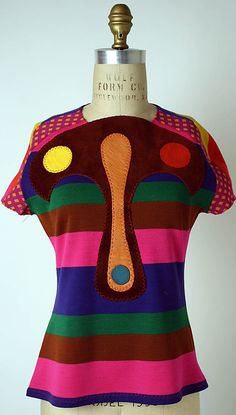 Blouse, Stephen Burrows, 1971. I am loving Stephen Burrows.