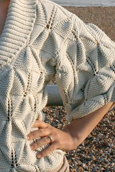 Ravelry: Origami Cardigan pattern by Katya Wilsher. Pattern available