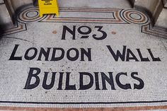 Around the back of London Wall in Finsbury Circus are these fine mosaics telling you where you are.