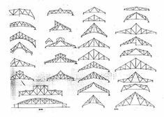 Roof trusses wrought iron and irons on pinterest - Cerchas de madera ...