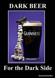Dark side dark beer
