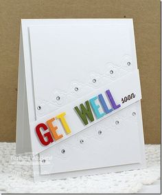 Rainbow Get Well - MFT December Release Countdown, Day Four by Bar - Cards and Paper Crafts at Splitcoaststampers Card Making Inspiration, Making Ideas, Feel Better Cards, Making Greeting Cards, Making Cards, Get Well Wishes, Rainbow Card, Scrapbook Cards, Scrapbooking