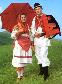 Hello all, Today i am going to talk about the costume and embroidery of Zagrebačko Prigorje, in Croatia. Croatia is known to its inhabitan. Folklore, European Costumes, Costumes Around The World, International Clothing, Folk Clothing, Beautiful Costumes, Ethnic Dress, Group Costumes, Folk Costume