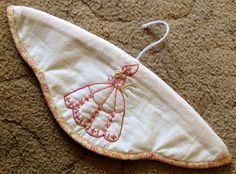 Crinoline lady covered coathanger made by Jo Butterfield