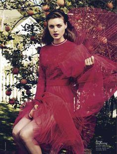 Bella Heathcote Dons Romantic Looks for Vogue Australias September Cover Story