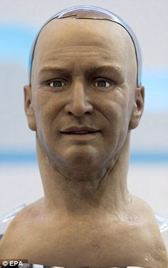 Aye, robot? Amazingly lifelike humanoid that can react to facial expressions, engage in conversation and even make eye contact | Robot has been drawing crowds at Hong Kong electronics event this week | Made using soft-bodied mechanical engineering and nanotechnology [The Future of Robotics: http://futuristicnews.com/category/future-robots/]