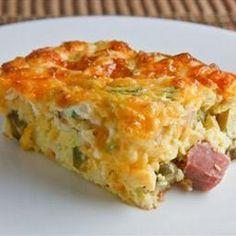 Breadless Egg Casserole. == OH MY YUMMY ==