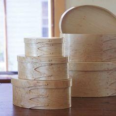 Birdseye Maple Shaker Storage Boxes