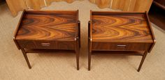 Danish Rosewood Nightstands | From a unique collection of antique and modern night stands at http://www.1stdibs.com/furniture/tables/night-stands/
