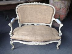 Large #marquise or small bench #LouisXV #style. Late 19th century. For sale on #Proantic by Galerie de la Madeleine.