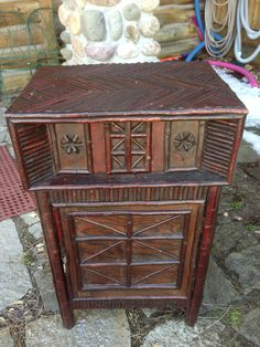 Nice twig cabinet with several locking document compartments in black birch parquetry twig work, Christibys SOLD Rustic Style, Rustic Decor, Twig Furniture, Old Hickory, Parquetry, Rustic Homes, Rustic Cabinets, Trading Post, Hope Chest