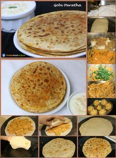 Gobi Paratha recipe step by step. Gobi Paratha is a type of paratha that is stuffed with flavored cauliflower. Gobi Paratha does not need much introduction or explanation. As we all know that it is very popular stuffed paratha in North India. Roti Paratha Recipe, Paratha Recipes, North Indian Recipes, Indian Food Recipes, Vegetarian Cooking, Vegetarian Recipes, Baby Food Recipes, Cooking Recipes, Recipe Steps