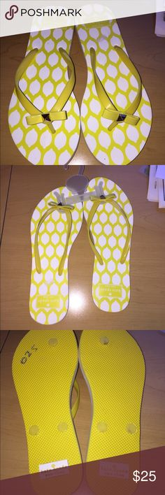 Kate Spade ♠️ yellow flip flops NWOT NWOT Kate Spade Yellow Flip Flops. Box not included kate spade Shoes Sandals