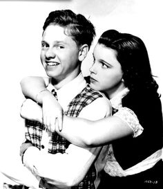 Mickey Rooney and Judy Garland for Love Finds Andy Hardy  (1938)