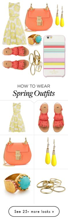 """""""Spring outfit """" by luciadefrancia on Polyvore featuring Kate Spade, INC International Concepts, Chloé, Kendra Scott and Ottoman Hands"""