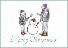 A sweet and cute Christmas Card for all your Christmas present !