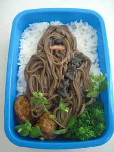 Dozens of ideas for playing with food including chewie noodles!