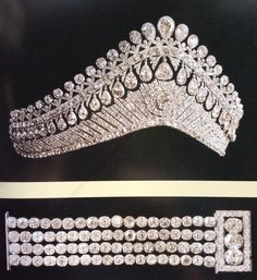 Diamond kokoshnik and bracelet. Made for the consort of Alexander I of Russia