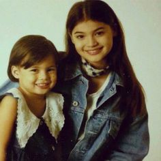 "Anne and Jasmine Curtis' ""Throwback Thursday"" post."