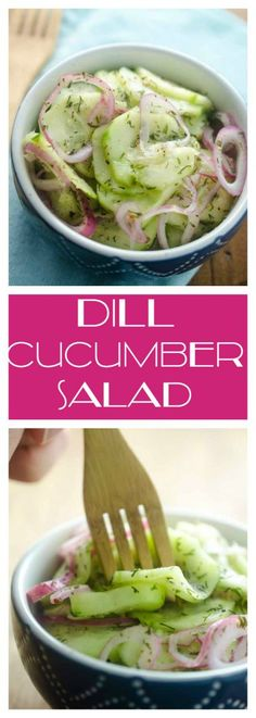 Dill Cucumber Salad is a family picnic classic and it couldn't be easier to make!