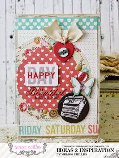 TERESA COLLINS DESIGN TEAM: Shabby, Sweet Cards & Tag - Melissa Phillips