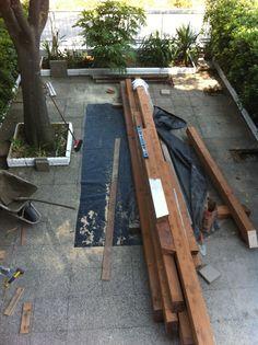 Inizia la costruzione, il legno.