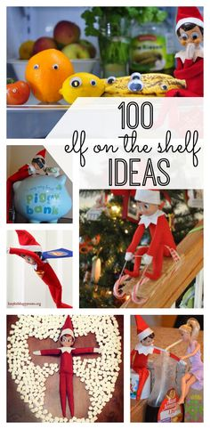 Get ready for Christmas. Your family will love these 100 Elf on the Shelf ideas. From quick & easy to crafty & committed, these Elf on the Shelf ideas are fun for you and your kids. Christmas 2014, All Things Christmas, Winter Christmas, Christmas Ideas, Family Christmas, Merry Christmas, Elf On The Shelf, The Elf, Christmas Activities