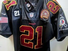 New WASHINGTON REDSKINS Throwback #21 SEAN TAYLOR dual patch Camo Black Jersey