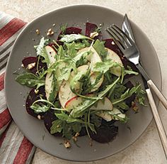 walnut salad with lemon miso vinaigrette apple beet and walnut salad ...