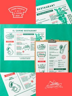 El Camino on Behance You are in the right place about hotel Restaurant Here we offer you the most beautiful pictures about the Restaurant food you are looking for. When you examine the El Camino on Be Menu Restaurant, Bar Restaurant Design, Restaurant Identity, Menue Design, Food Menu Design, Design Café, Graphic Design, Design Styles, Design Ideas
