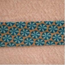 Biaislint blauwe bloem - 20 mm