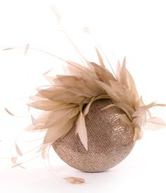 Jane Taylor - sequined feathered cocktail hat