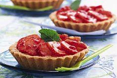 Recept voor Zandtaartjes met room en aardbeien