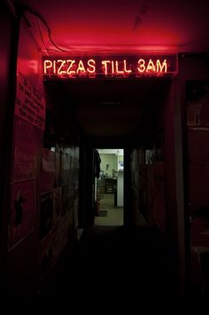 pizza till 3am! a dream! there's nothing better than food, especially pizza, after a party.