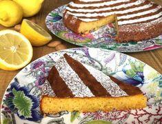 Torta al limón, almendras y chocolate blanco