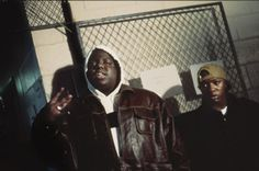 The Notorious B.I.G. with Lil' Cease in Philadelphia, 1994. Photo by Lisa Leone.