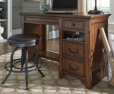 Woodboro Home Office Desk — Compare Furniture Prices Home Office Desks, Office Decor, Home Office Accessories, Simply Home, Hickory Furniture, Corner Desk, New Homes, Wood, House