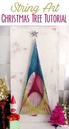 Don't have room for a real or faux Christmas tree? This beautiful string art is modern and still brings all the beauty of the season into your home without taking up much space (or costing you anything!). DIY instructions here: http://www.ehow.com/how_12343657_string-art-christmas-tree-tutorial.html?utm_source=pinterest.com&utm_medium=referral&utm_content=freestyle&utm_campaign=fanpage
