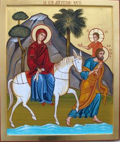 Flight into Egypt by Nicola Damiano St Charbel, Art Carved, Light Of The World, Holy Family, Orthodox Icons, Christian Art, Painting Inspiration, Trinidad, Spirituality