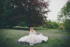That dress & those bluebells. Girls Dresses, Flower Girl Dresses, Wedding Dresses, Flowers, Photography, Fashion, Dresses Of Girls, Bride Dresses, Moda