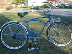 Cool Bicycles, Vintage Bicycles, Tiger Pictures, Cruiser Bicycle, Custom Harleys, Classic Bikes, Harley Davidson Motorcycles, City, Beach