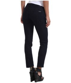 7 For All Mankind™ recommends sizing down if you are between sizes in this wash.  Seriously slimming jeans from the denim goddesses at 7 For All Mankind.  Tailored ankle jean features a natural low rise and slim straight pencil leg.  Slim Illusion Rinse is a clean dark blue rinse wash on Reform denim, an exclusive fabrication to 7 For All Mankind. Super stretch denim features a unique dense weave that really holds you in for a slim, sexy look…