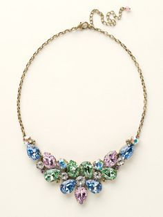 Dare To Pear Crystal Bib Necklace in Spring Rain by Sorrelli - $200.00 (http://www.sorrelli.com/products/NCP3AGSPR)