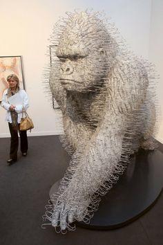 Coat Hanger Gorilla by Scottish artist David Mach.