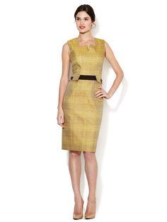 Woven Canvas Pocket Dress by Carolina Herrera at Gilt