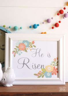 These free printables make for easy easter decorations. Or use the Spring version for easy spring decorations.