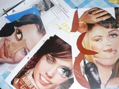 Make cubismo like collages from magazines- cut out pieces from different faces