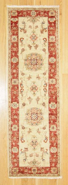 2' X 6'5 Traditional Hand Knotted Rug