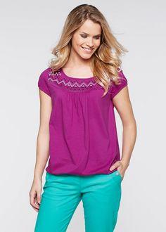 Blusa estampada decote redondo violeta-orquídea estampado encomendar agora na loja on-line bonprix.de  R$ 34,90 a partir de Blusa soltinha descontraída com ...